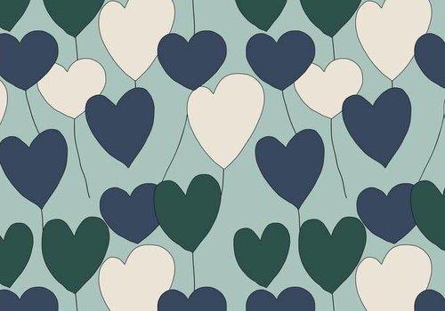 Elvelyckan Happy Heart - dusty mint