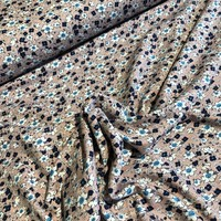 Viscose Tricot Little flowers oldpink