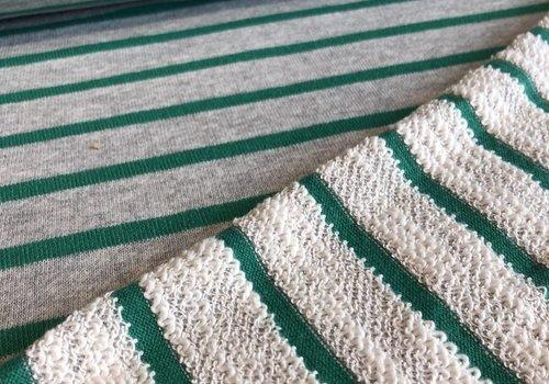 De Stoffenkamer Summer Terry stripes green