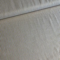 Linen Mix Washed oker stripes