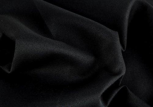 De Stoffenkamer Geweven Canvas Zwart