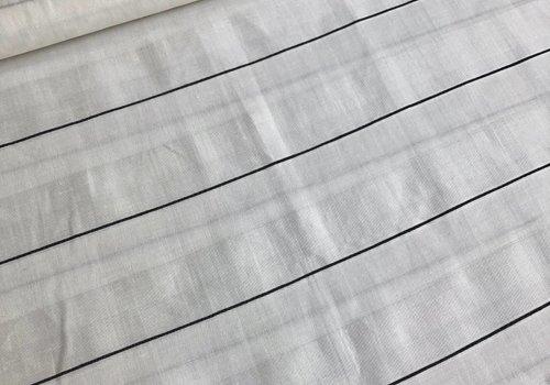 De Stoffenkamer Stripe blocked blouse white