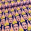 Tricot Frida Kahlo Cobalt