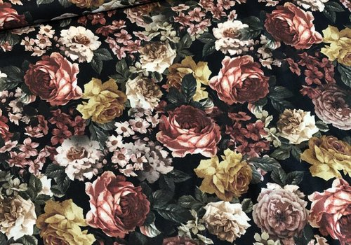 Viscose black roses flowers