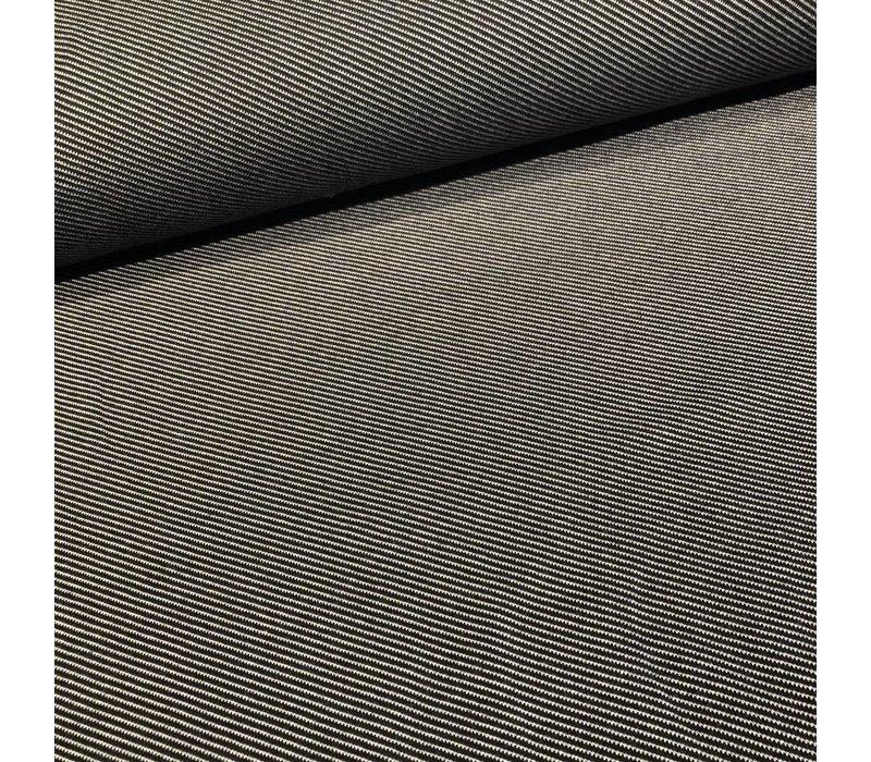 Jacquard Tricot diagonal stripes black