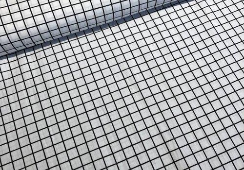 Katoen mini grid white