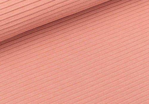 De Stoffenkamer Tricot relief lines soft peach
