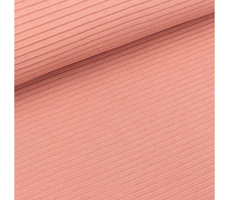 Tricot relief lines soft peach