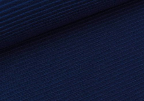De Stoffenkamer Tricot relief lines blue
