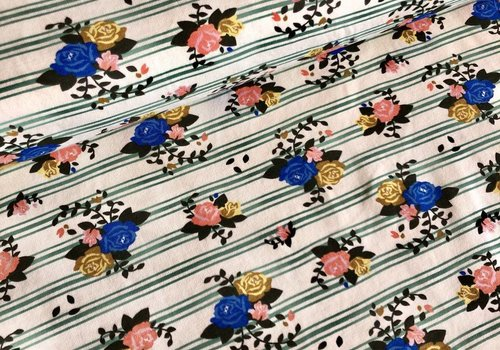Birch Interlock pirouette striped flowers