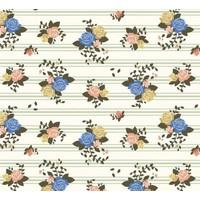 Interlock pirouette striped flowers