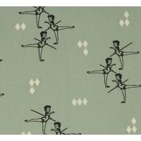Interlock pirouette ballerina mint green