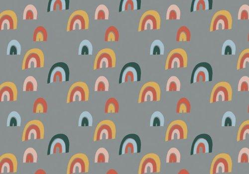 Elvelyckan Sweater Rainbow - Grey **pre-order**