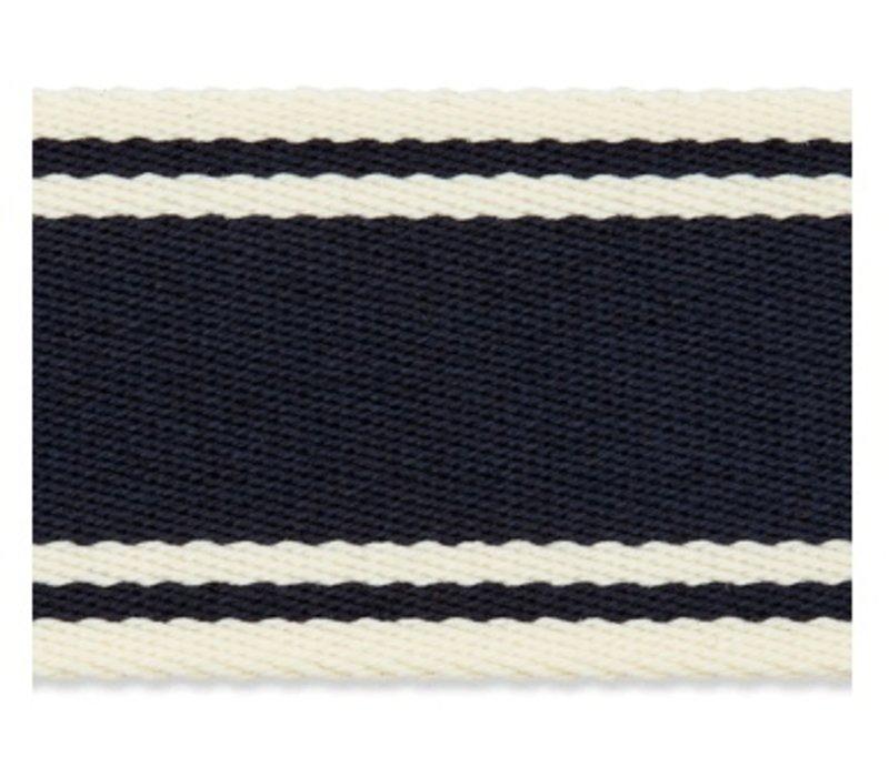 Tassenband strepen marine