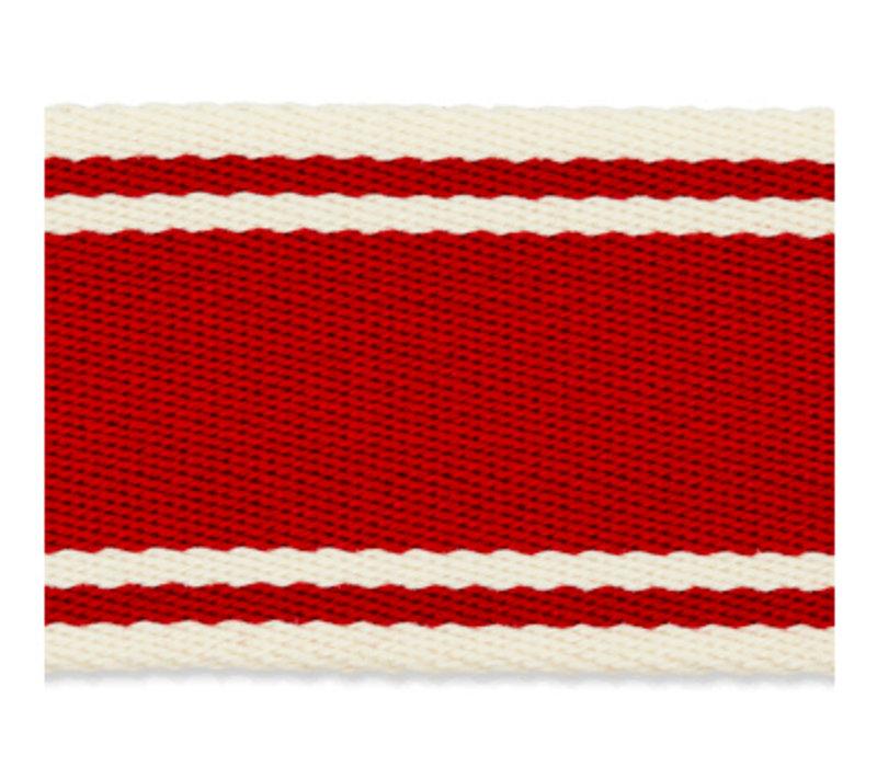 Tassenband strepen rood