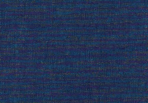 Robert Kaufman Essex Yarn Dyed metallic Navy Rainbow