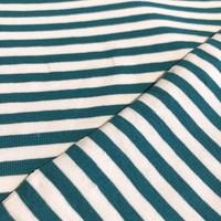 Tricot Stripes white//petrol