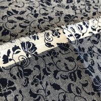 Cotton chambray denim flowers