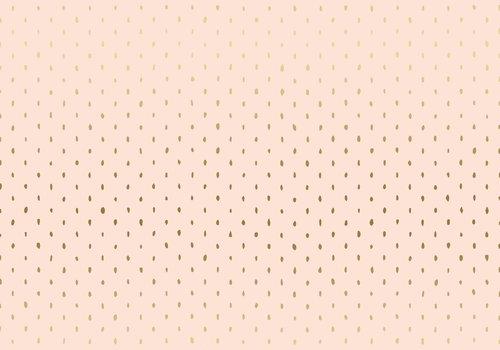 Cotton + Steel Basic Stitch & repeat - blush metallic