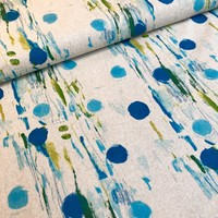 Canvas once upon a time - dots green