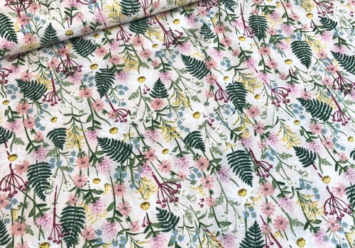 Cotton + Steel Lawn Rifle paper co. - Wildflowers pink
