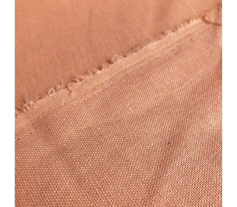 Linen Mix Washed uni peach