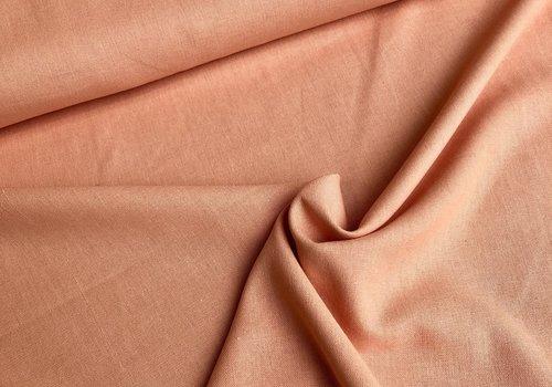 De Stoffenkamer Linen Mix Washed uni peach