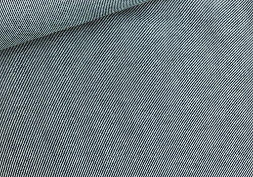 Jacquard Tricot stripes denim- mint
