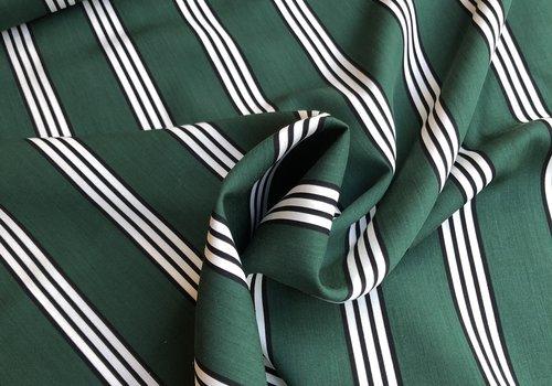 La Maison Victor - editex Viscose green stripes