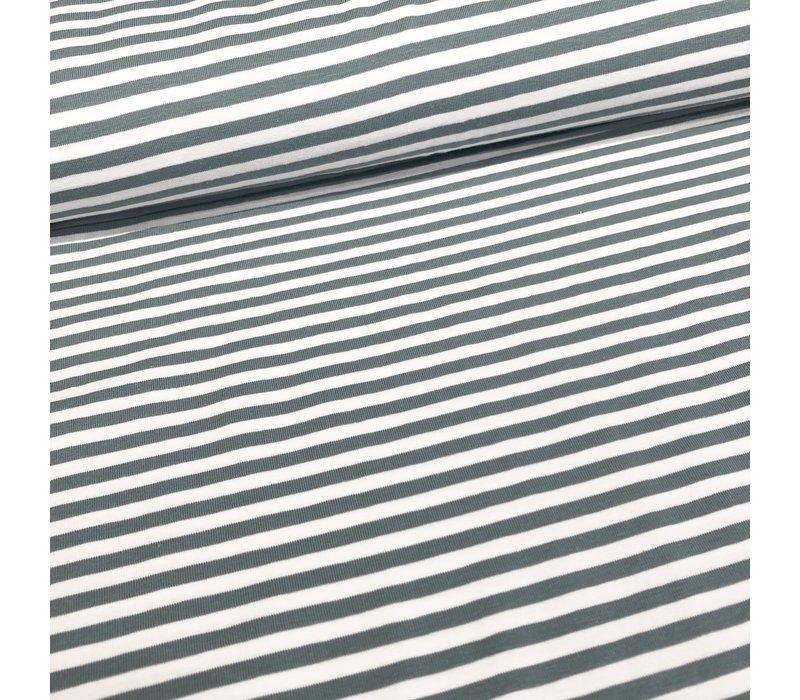 Tricot Stripes white//sage