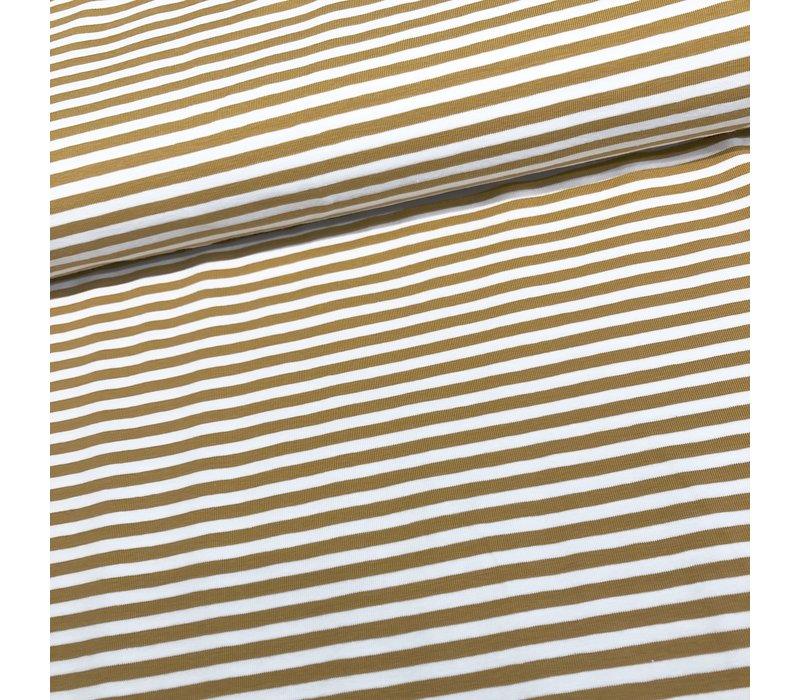 Tricot Stripes white//oker