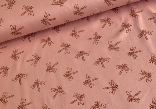 De Stoffenkamer Tricot libel roze