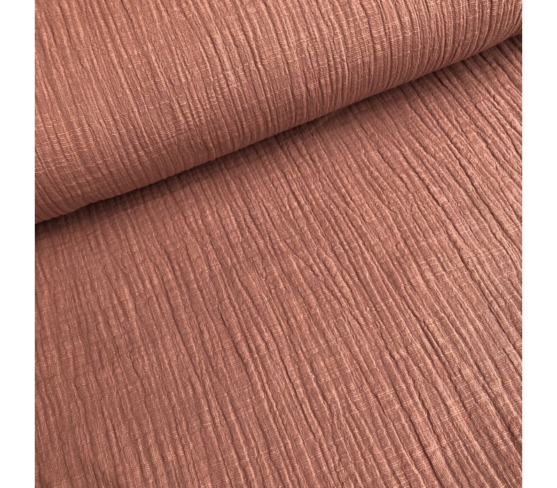 Linen double gauze rusty pink