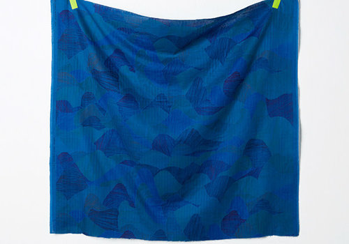 Nani Iro Double Gauze Nani Iro - mountain views blue