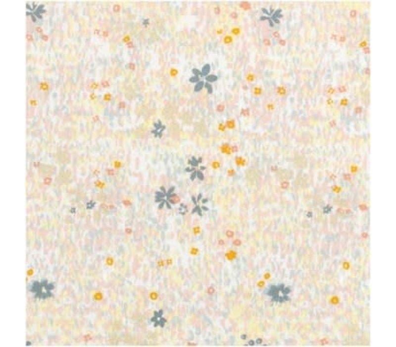Flowered Cotton field - metallic