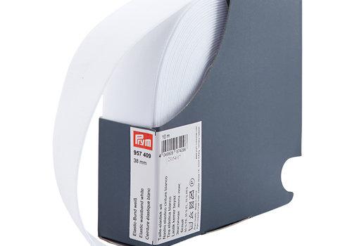De Stoffenkamer Taille Elastiek 38mm wit