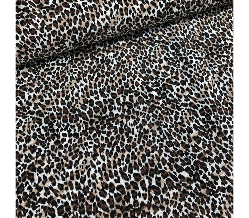 Viscose brown mini leopard