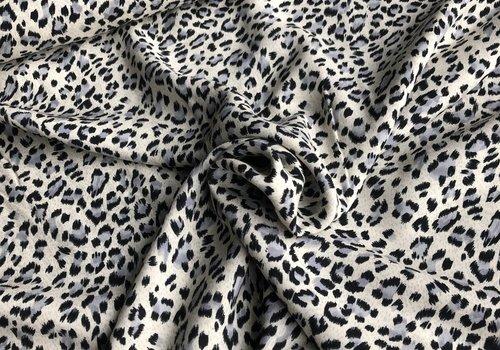 Viscose blue mini leopard