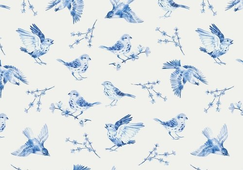 FF Tricot Blue Sparrow