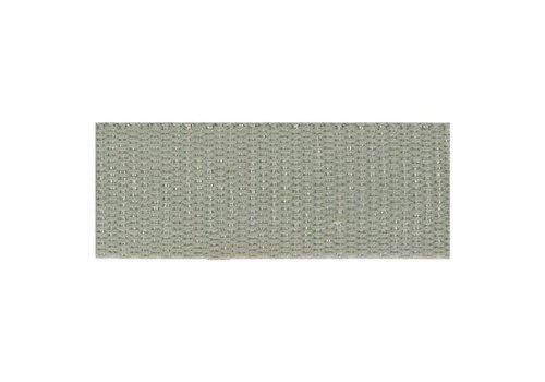 De Stoffenkamer Tassenband metallic zilver grijs