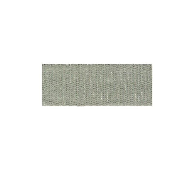 Tassenband metallic zilver grijs