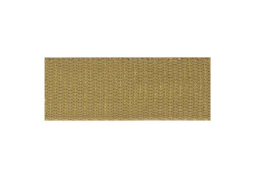 De Stoffenkamer Tassenband metallic mokka goud