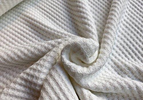 De Stoffenkamer Knitted waffle ecru