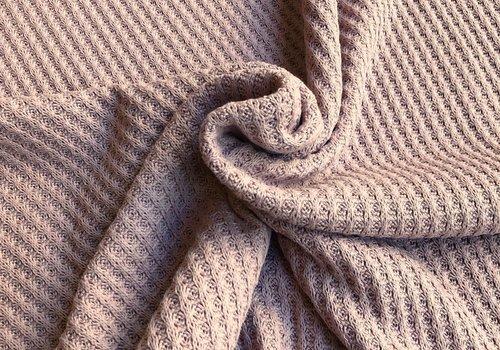 De Stoffenkamer Knitted waffle old rose