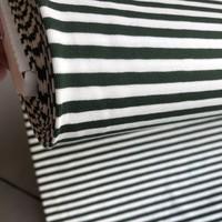 Tricot Stripes white//green den
