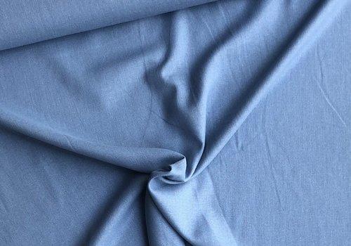 De Stoffenkamer Linen Mix Washed uni lightblue