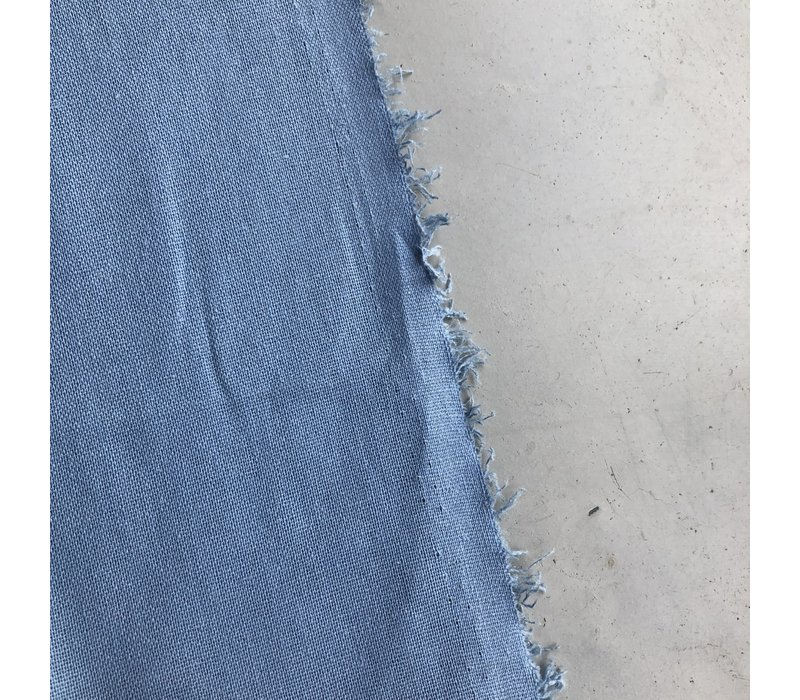Linen Mix Washed uni lightblue