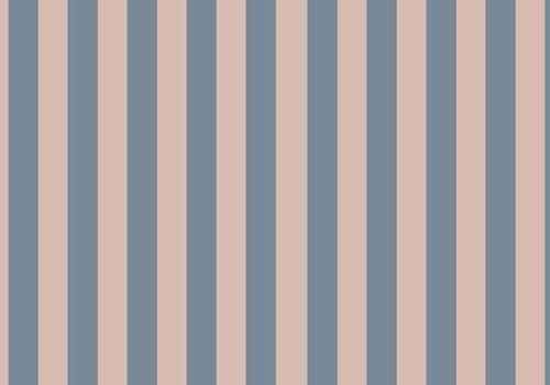 Elvelyckan Vertical dusty pink - blue