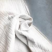 Linen double gauze white