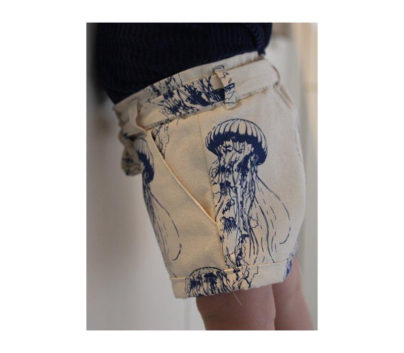 Stevige katoen canvas Jellyfish royal